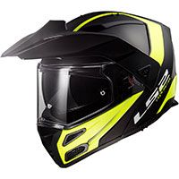 Ls2 Ff324 Metro Evo P/j Rapid Black Matt H-v Yellow