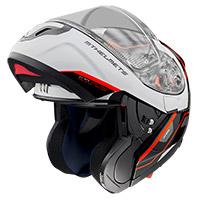 Casco Modulare Mt Helmets Atom Sv Opened B5 Rosso
