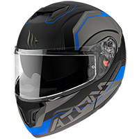 Casco Modulare Mt Helmets Atom Sv Quark A7 Blu