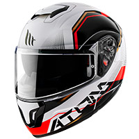 Casco Modulare Mt Helmets Atom Sv Quark B5 Rosso