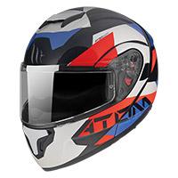 Casco Modulare Mt Helmets Atom Sv W17 A7 Blu