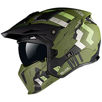 Mt Helmets Streetfighter Sv Skull A16 Green Matt