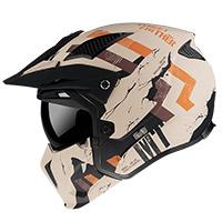 Mt Helmets Streetfighter Sv Skull A14 Arancio Opaco