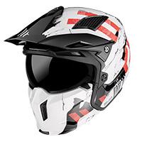 Mt Helmets Streetfighter Sv Skull A0 Bianco