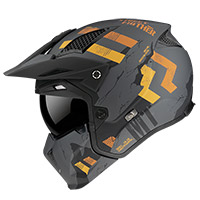 MT Helmets Streetfighter SV Skull A12 gris opaco