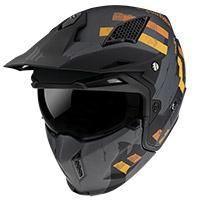 Mt Helmets Streetfighter Sv Skull A12 Grigio Opaco