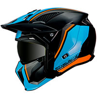 Mt Helmets Streetfighter Sv Twin A4 Orange Fluo