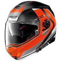 Nolan N100.5 Hilltop N-com Flat Black Orange