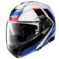 Nolan N100.5 Hilltop N-com Blue Metal White