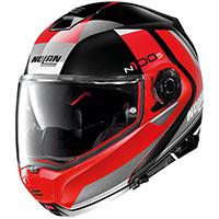 Nolan N100.5 Hilltop N-com Glossy Black Red