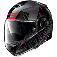 Nolan N100.5 Lightspeed N-com Red Metal Black