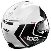 Nolan N100.5 Plus Distinctive N-com Bianco Metal