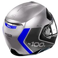 Nolan N100.5 Plus Distinctive N-com Flat Argento