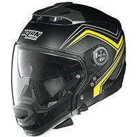 Nolan N44 Evo N-com Como Flat Black Yellow