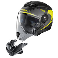 Nolan N70.2 Gt Lakota N-com Yellow Flat Black