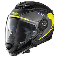 Nolan N70.2 Gt Lakota N-com Giallo Nero Opaco