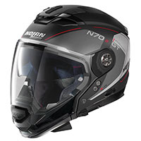Nolan N70.2 Gt Lakota N-com Red Flat Black