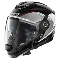 Nolan N70.2 Gt Lakota N-com Red Silver Black