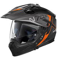 Nolan N70.2x Bungee N-com Arancio Nero Opaco