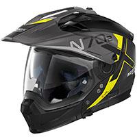 Nolan N70.2x Bungee N-com Yellow Flat Black
