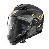 ノーラン n 70.2 Gt ベラヴィスタ n-コムモジュラーヘルメットイエローフラットグレー