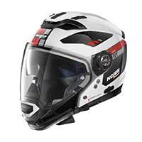 Nolan N70.2 Gt Bellavista N-com Modular Helmet Metal White