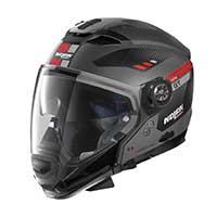 ノーラン n 70.2 Gt ベラヴィスタ n-コムモジュラーヘルメットブラックレッドグレー