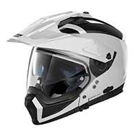 Nolan N70.2x Classic N-com Modular Helmet Metal White