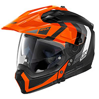 Nolan N70.2x Decurio N-com Orange Flat Black
