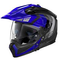 Nolan N70.2x Decurio N-com Blue Flat Black