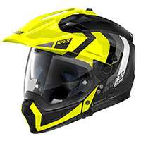 Nolan N70.2x Decurio N-com Yellow Flat Black