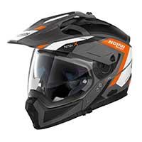 ノーラン n 70.2 x グランデアルプ n-コムモジュラーヘルメットブラックオレンジホワイト