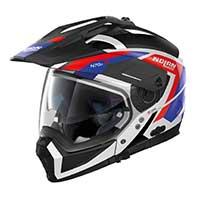 ノーラン n 70.2 x グランデアルプ n-コムモジュラーヘルメットブラックホワイトレッドブルー