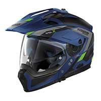ノーラン n 70.2 x グランデアルプ n-コムモジュラーヘルメットブルー