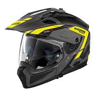 ノーラン n 70.2 x グランデアルプ n-コムモジュラーヘルメットブラックイエロー