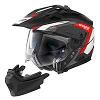Nolan N70.2x Grandes Alpes N-com Modular Helmet Black Red White