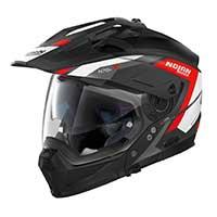 ノーラン n 70.2 x グランデアルプ n-コムモジュラーヘルメットブラックレッドホワイト