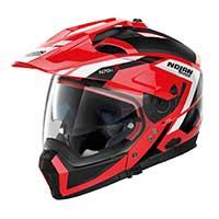 Nolan N70.2x Grandes Alpes N-com Modular Helmet Red Black