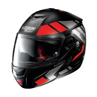 Nolan N90.2 Euclid N-com Modular Helmet Red Black