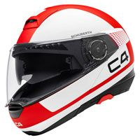 Schuberth C4 Legacy White Red
