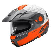 Schuberth E1 Adventure Crossfire Matt Orange Fluo