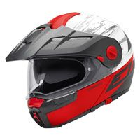 Schuberth E1 Adventure Crossfire Matt Red Fluo