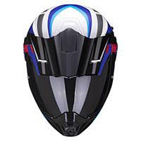 Casco Scorpion Adx-1 Lontano Bianco Blu Rosso