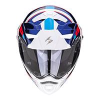 Casco Modulare Scorpion Adx-2 Camino Bianco Blu Rosso