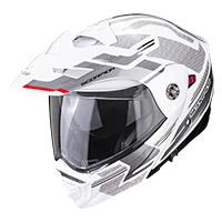 Casco Modulare Scorpion Adx-2 Carrera Bianco Argento