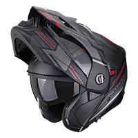Casco Modulare Scorpion Adx-2 Carrera Nero Rosso