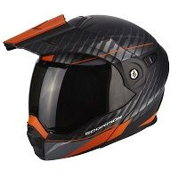 Scorpion Adx-1 Dual Matt Black Orange
