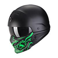 Casco Scorpion Exo Combat Evo Samurai Nero Verde