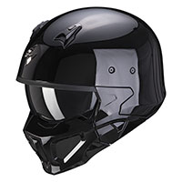 Scorpion Covert X Solid Helmet Black