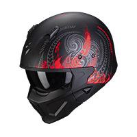Casco Scorpion Covert X Tattoo Nero Opaco Rosso